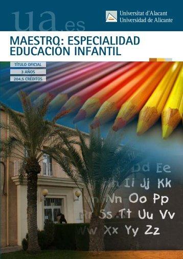 maestro: especialidad educación infantil - Universidad de Alicante