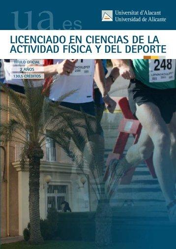 Ciencias de la Actividad Física y del Deporte - Universidad de Alicante