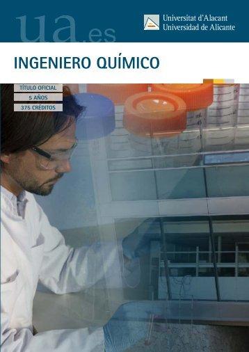 INGENIERO QUÍMICO - Universidad de Alicante