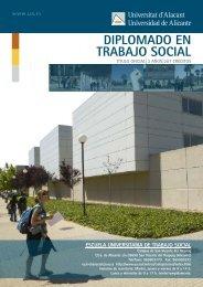 DIPLOMADO EN TRABAJO SOCIAL - Universidad de Alicante