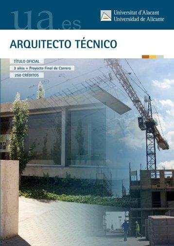 ARQUITECTO TÉCNICO - Universidad de Alicante