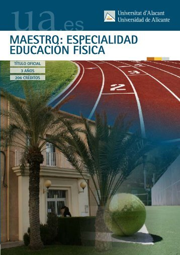 maestro: especialidad educación física - Universidad de Alicante