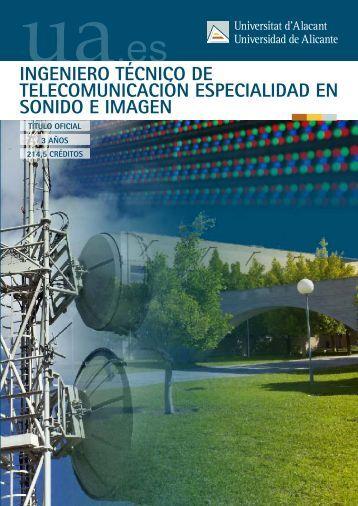ingeniero técnico de telecomunicación especialidad en sonido e ...