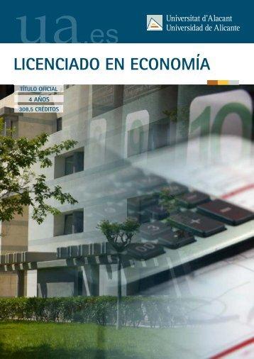 LICENCIADO EN ECONOMÍA - Universidad de Alicante