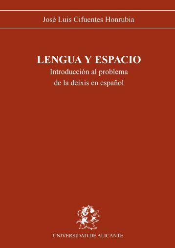 Lengua y Espacio - Universidad de Alicante