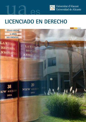 LICENCIADO EN DERECHO - Universidad de Alicante