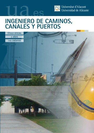 ingeniero de caminos, canales y puertos (2º - Universidad de Alicante