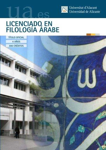LICENCIADO EN FILOLOGÍA ÁRABE - Universidad de Alicante