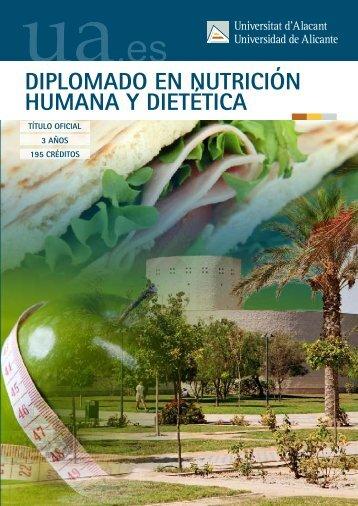 Nutrición Humana y Dietética - Universidad de Alicante