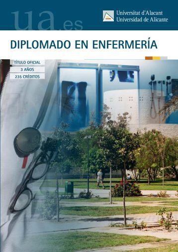 DIPLOMADO EN ENFERMERÍA - Universidad de Alicante