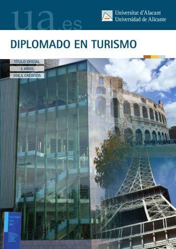 DIPLOMADO EN TURISMO - Universidad de Alicante