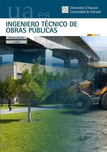 Ingeniero Técnico de Obras Públicas - Universidad de Alicante