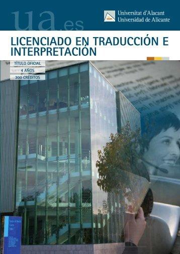 Traducción e Interpretación - Universidad de Alicante