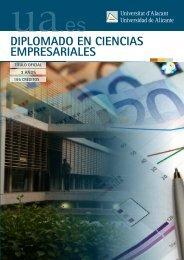Ciencias Empresariales - Universidad de Alicante
