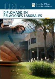 Relaciones Laborales - Universidad de Alicante