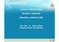 Uygulama Örneği 1: Sakarya Üniversitesi