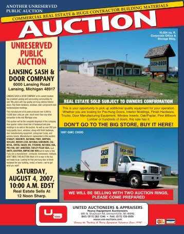 color brochure (PDF) - United Auctioneers & Appraisers