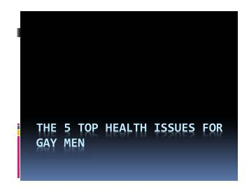 from Jabari health issues of gay coupkles