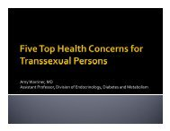 Five top health concerns for Transgender persons