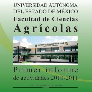 Primer Informe 2011 - Universidad Autónoma del Estado de México