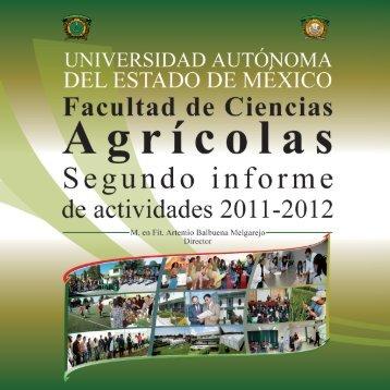 Segundo Informe 2012 - Universidad Autónoma del Estado de México