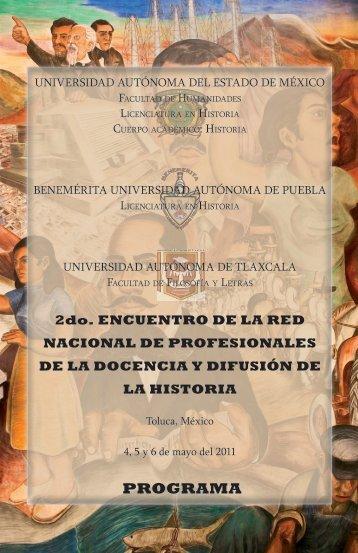 PROGRAMA - Universidad Autónoma del Estado de México
