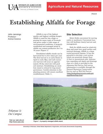 Establishing Alfalfa - University of Arkansas Cooperative Extension ...