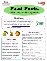 Food Facts - Fruits and Vegetables - FCS578