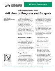 4-H Awards Programs and Banquets - University of Arkansas ...