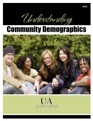Understanding Community Demographics - University of Arkansas ...