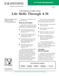 Life Skills Through 4-H - University of Arkansas Cooperative ...
