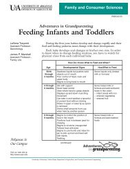 Feeding Infants and Toddlers - University of Arkansas Cooperative ...