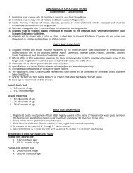 General Rules for Johnson County Goat Show