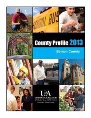 County Profile 2013 - Benton County - CP4 - University of Arkansas ...