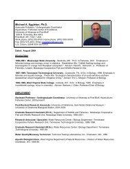 Vitae - University of Arkansas Cooperative Extension Service