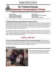 Extension Homemakers Clubs - University of Arkansas Cooperative ...