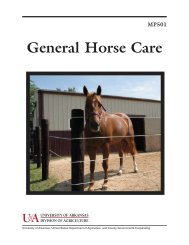General Horse Care - University of Arkansas Cooperative Extension ...
