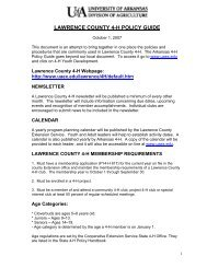 Lawrence County 4-H Policy Guide (PDF) - University of Arkansas ...