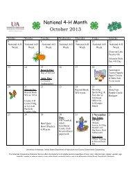 4-H Calendar - University of Arkansas Cooperative Extension Service