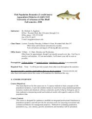 Fish Population Dynamics - University of Arkansas Cooperative ...