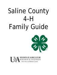 Saline County 4-H Family Guide - University of Arkansas ...