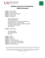 Faulkner County 4-H Constitution - University of Arkansas ...