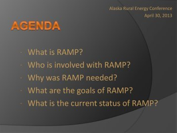  What is RAMP?  Who is involved with RAMP?  Why was RAMP ...