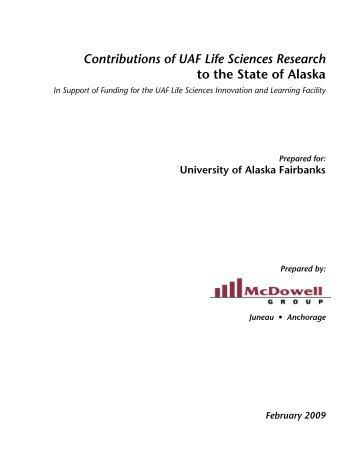 Download the UAF Life Sciences study (PDF) - University of Alaska ...