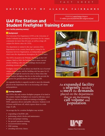 Fire Station & Student Firefighter Training Center - University of ...