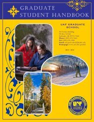 Graduate Student Handbook - University of Alaska Fairbanks
