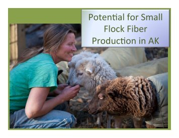 Potential For Small Flock Fiber Production