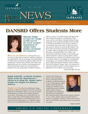 DANSRD Offers Students More - University of Alaska Fairbanks