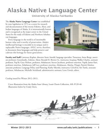 Download our catalog - University of Alaska Fairbanks
