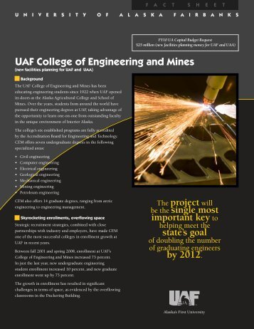 College of Engineering and Mines - University of Alaska Fairbanks